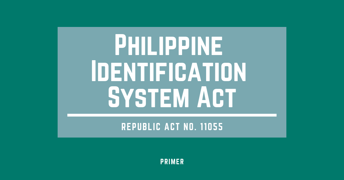 Philippine Identification System Act Photo