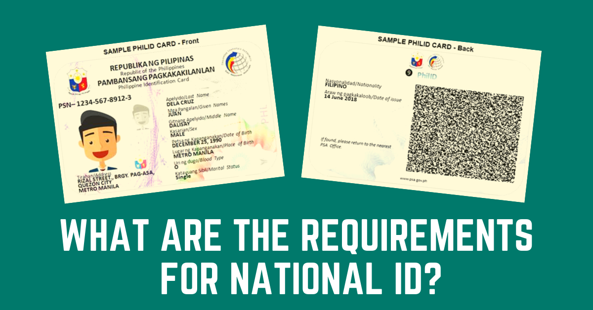 National ID Requirements | What You Need to Prepare